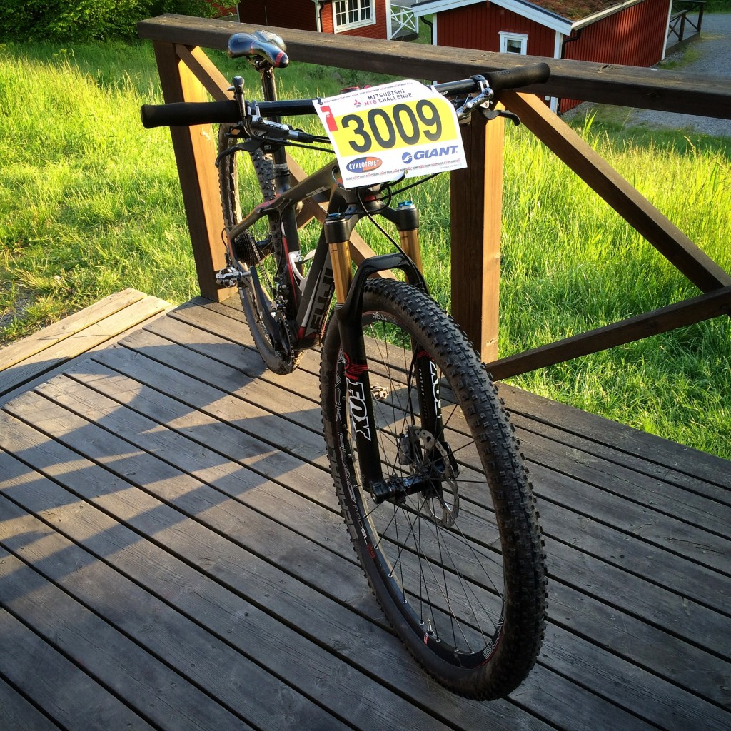 Lappad och klar. Min fina snabba cykel.
