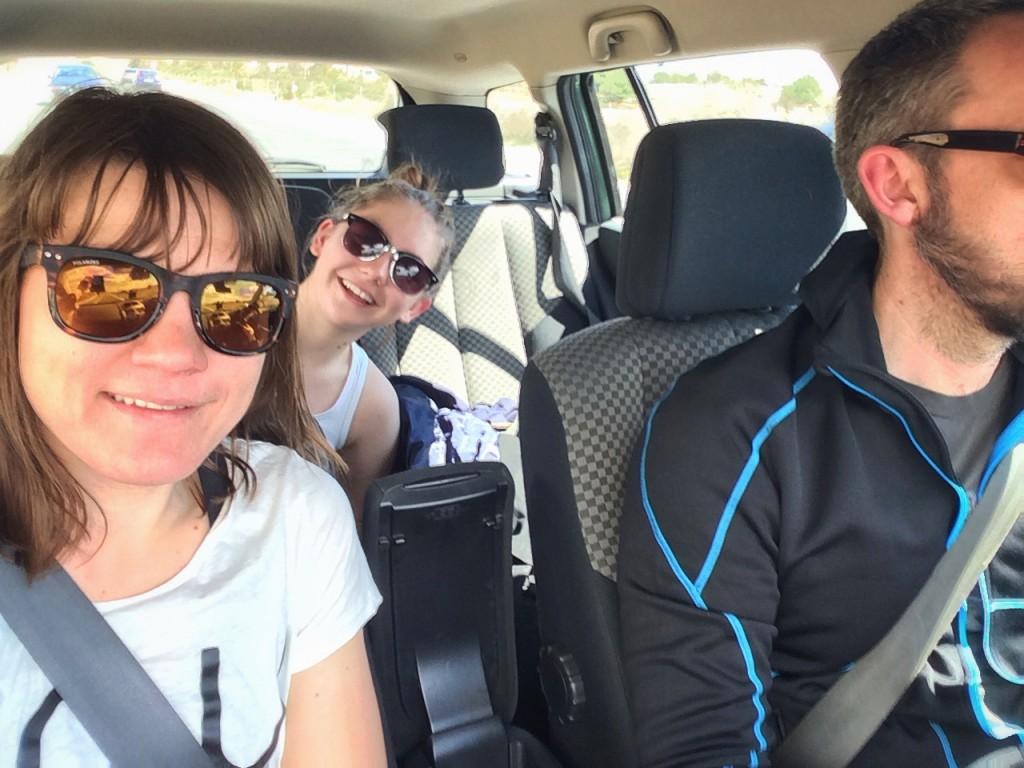 Från i april i år. I bilen till Arlanda för cykelsemester i Spanien. Det var vi bra på!