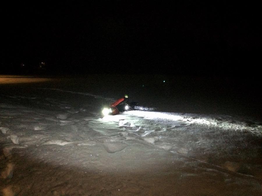 Jimmy testade lite väl djup snö. Det gick så där.